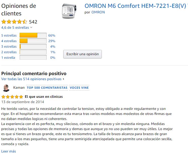 valoraciones del omron m6